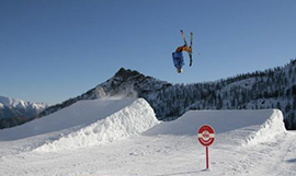 Freestyle ski at Monterosa